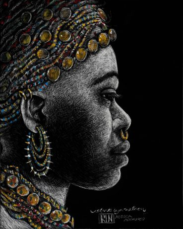 Africa Adorned portrait