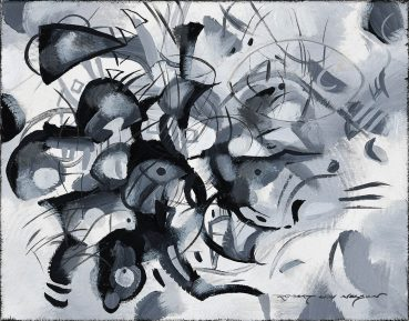 Black and White Fantasy abstract painting