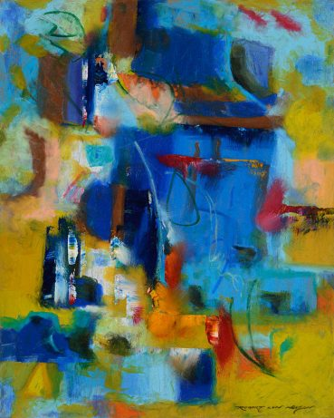 Blue Pools abstract painting