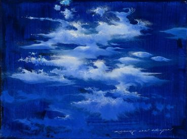 Blue Rain abstract painting