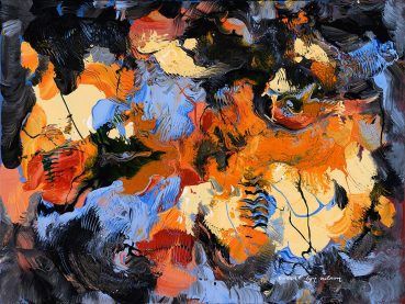 Cerulean Summer abstract painting