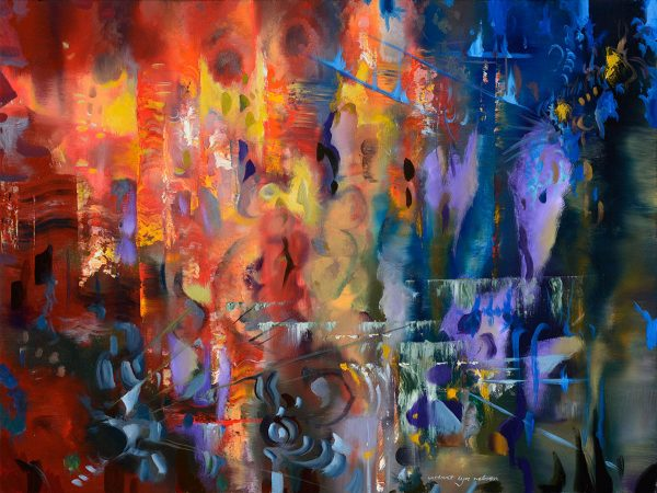 Chateau Margaux abstract painting