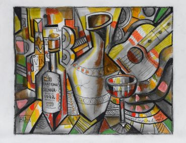 Chateau Sienna cubist painting