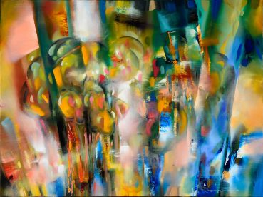 China Blue Groves abstract painting