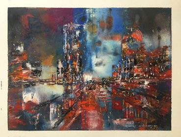 City Dreams abstract painting