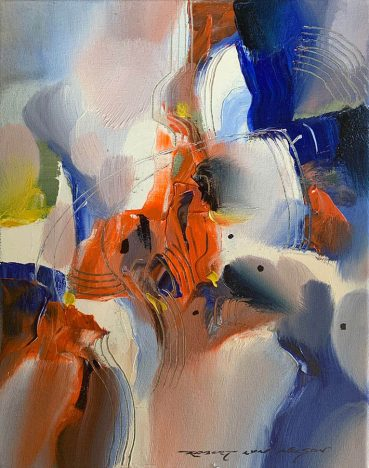 Cool Spring abstract painting