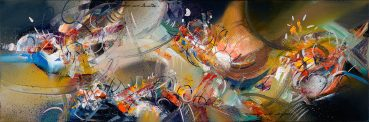 Crouching Tiger abstract painting