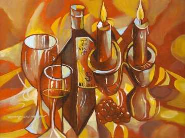 Cubist Concert abstract painting