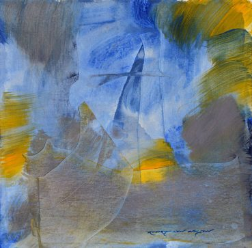 Delicate Narrative abstract painting