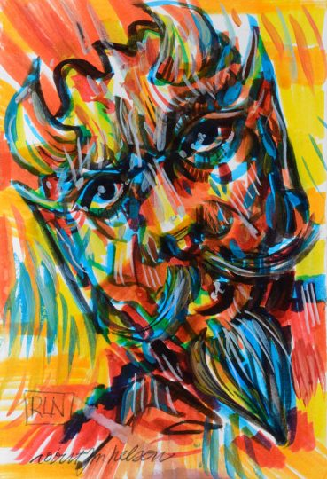 Devil Sketch pop art
