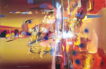 Evening Symphony abstract painting