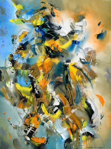 Exotic Beach abstract painting