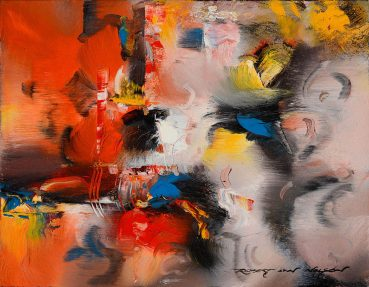 Exotic Setting abstract painting