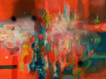 Expanding Colors abstract painting