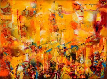 Facing Time abstract painting