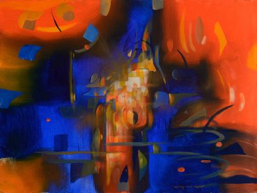Flickering to Life abstract painting