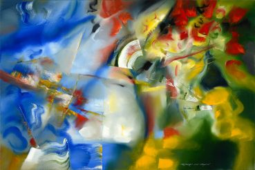 Flooded Senses abstract painting