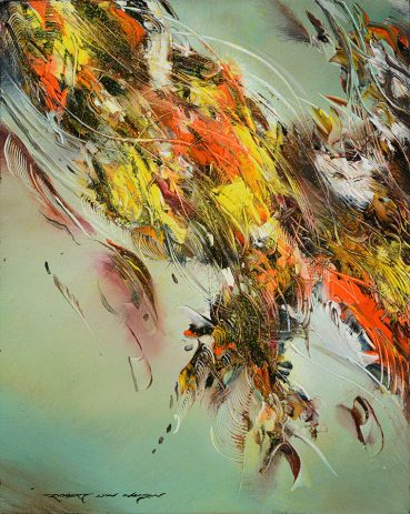 Floral Fanfare abstract painting