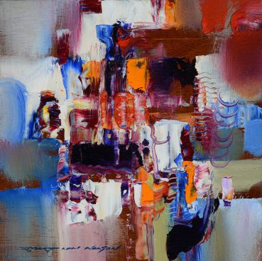Future is Bright abstract painting