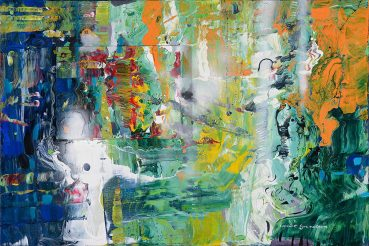 Ghost in the Machine abstract painting