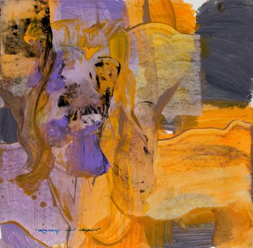 Gold Bands abstract painting