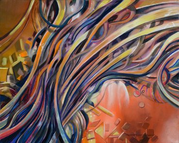 Gold Eloquence abstract painting