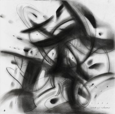 Grey Areas abstract painting