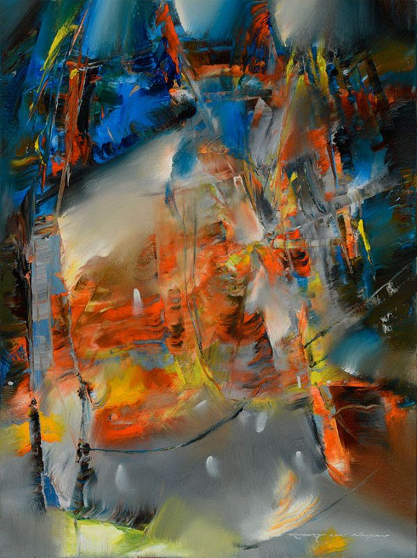 Heart of London abstract painting