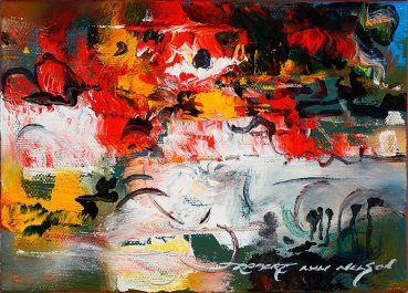 Horserace abstract painting