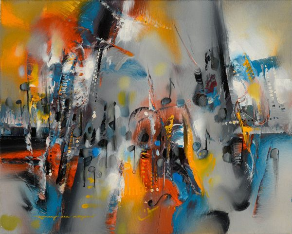 I'm Only Sleeping - Beatles Tribute Series abstract painting