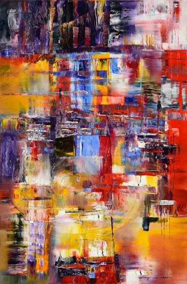 Japan Impression abstract painting