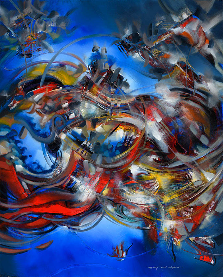 Magnetic Force abstract painting