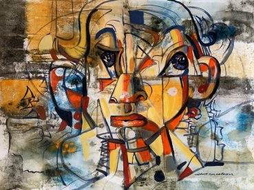 Male Child cubist painting