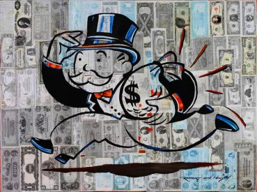 Mr Monopoly pop art