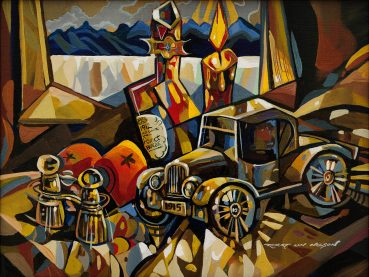 My Toy Car cubist painting