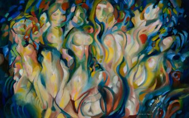 Opera of Female Figures abstract painting