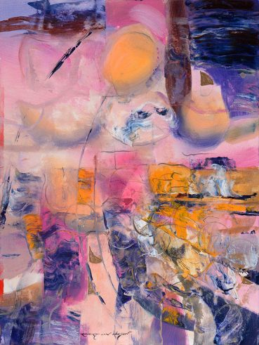 Pink Transformation abstract painting