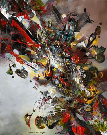 Pitch and Rhythm abstract painting