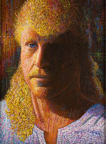 Pointillist Self Portrait