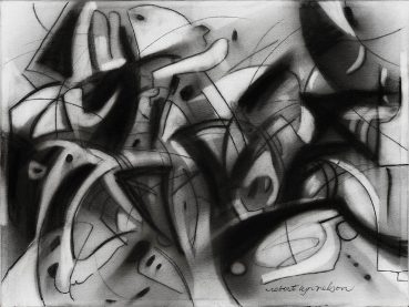 Positive Negative abstract painting