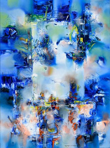 Relativity abstract painting