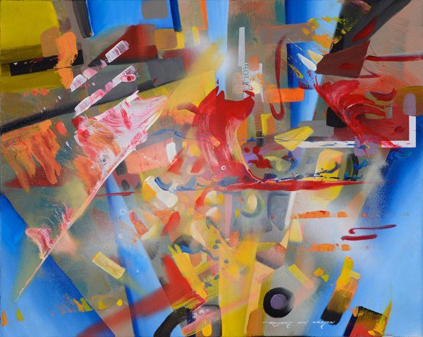 Royal Fireworks abstract painting
