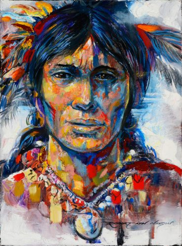 Sioux Warrior portrait