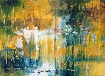 Sleep In abstract painting
