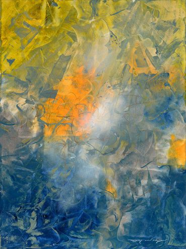 Spring Ahead abstract painting