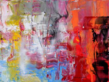Tender Fanfare abstract painting
