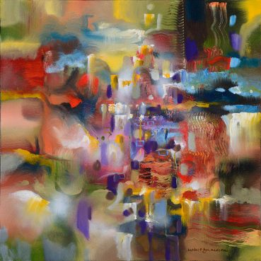 Transient Days abstract painting