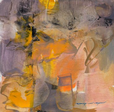 Unpredictable Color abstract painting