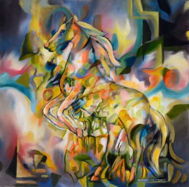 Untamed abstract painting