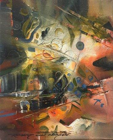 Visions Overlapped abstract painting
